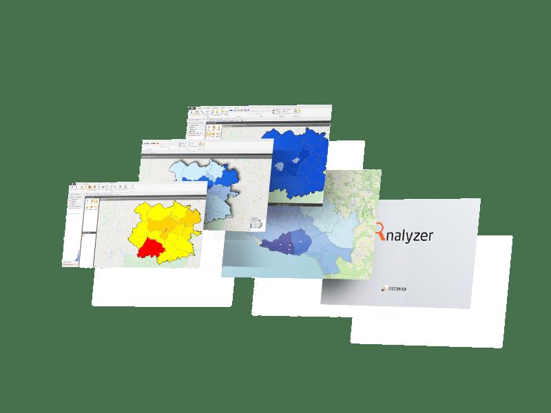 dashboard suite decisionnelle geomarketing Analyzer Desktop