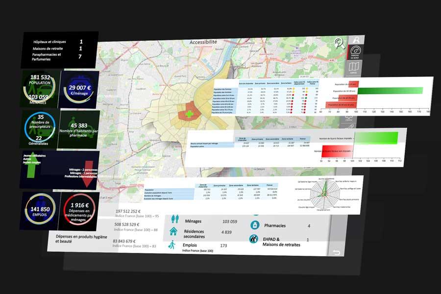 illustration dashboard analyzer online sante